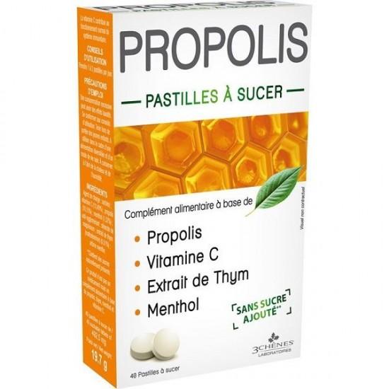 PROPOLIS 3 CHÊNES 40 PASTILLES