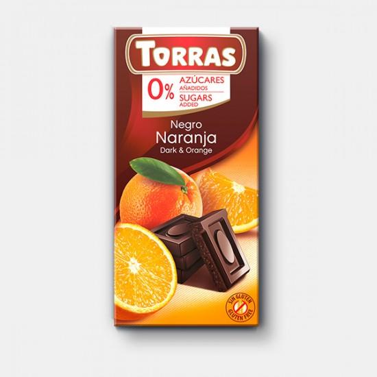 CHOCOLAT NOIR ET ORANGE 75 Gr