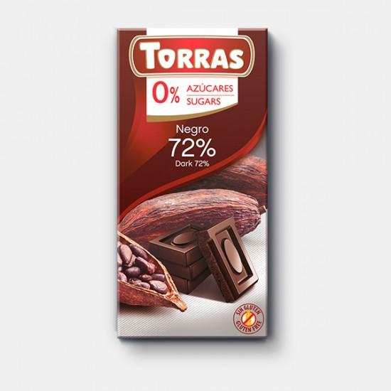 CHOCOLAT NOIR 72% CACAO 75 Gr