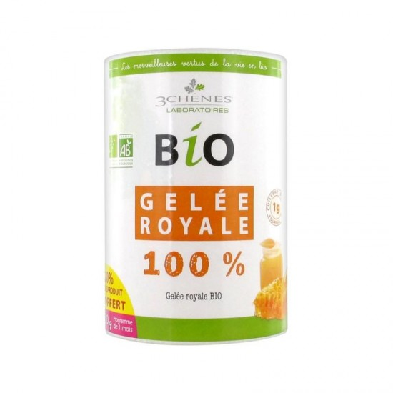 GELÉE ROYALE BIO 3 CHÊNES 30Gr